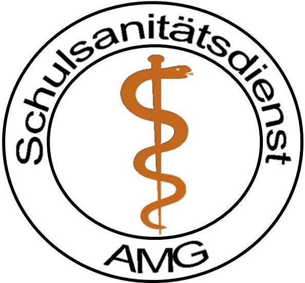 Schulsanitätsdienst : Albertus-Magnus-Gymnasium Stuttgart   {Schulsanitäter logo 72}